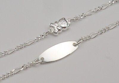 Armband Armkette Name Gravur Echt Silber Schmuck 925 Junge Mädchen Baby Kinder