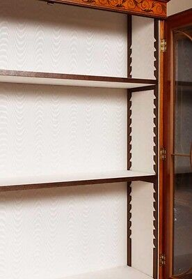 Pair Regency Satinwood Display Cabinets Bookcases Sheraton Furniture 10
