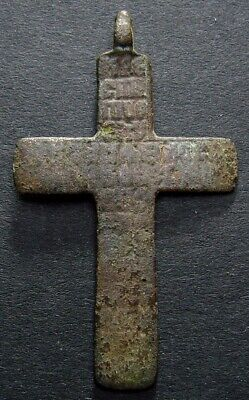 ANCIENT BRONZE CROSS RARE. RELIGIOUS ARTIFACT IN GREAT CONDITION. 45 mm. (F.090) 3