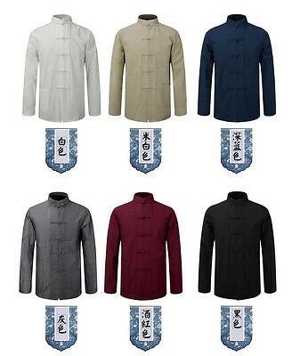 5756ff8b5a ... Men s Cotton Traditional Chinese Tang Suit Coat clothing Kung Fu Tai  Chi Uniform 2