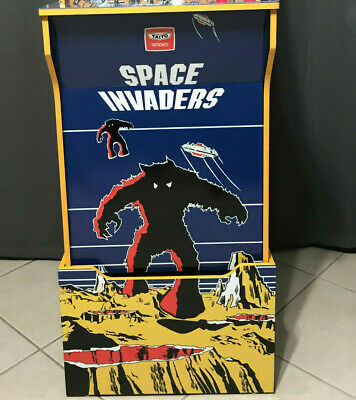 Arcade1up Cabinet Riser Graphics - Space Invaders Graphic Sticker Decal Set 3