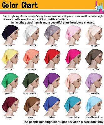 Muslim Women Hijab Under Scarf Inner Cap Bone Bonnet Neck Cover Cap Head Wrap 3