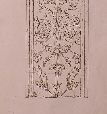 1825 Etching Print Antique Pilasters White Marble Cinque Cento Church St Martin 3