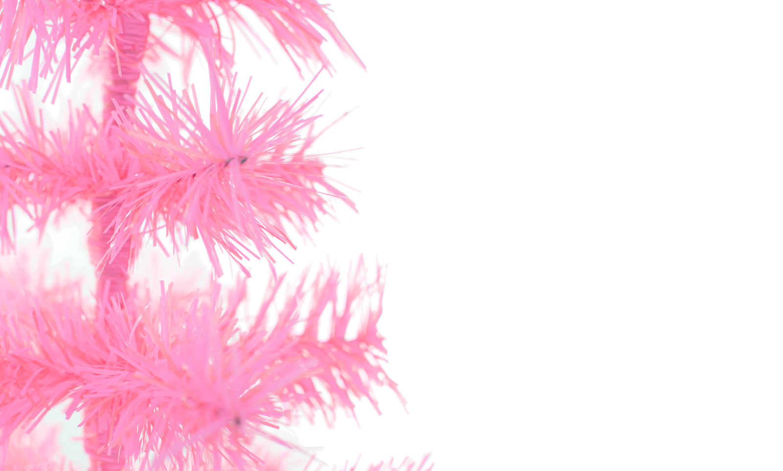 18'' Pink Barbie Tinsel Tree Christmas Holiday Tree 1.5FT Table-Top XMASS 4