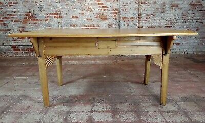 19th century French Farmhouse Pine Drop Leaf Dining Table 4