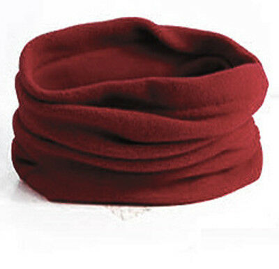 3 in1 Winter Sport Thermal Fleece Scarf Snood Neck Warmer Face Mask Beanie Hat