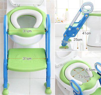 Bébé Formation Siège de Toilette échelle marches pliable Enfant WC Pot éducatif 8