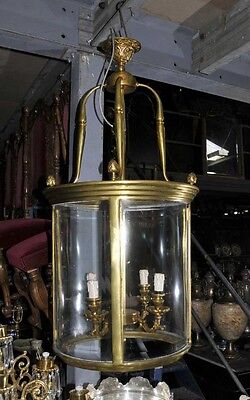 Victorian Ormolu Lantern Light Lamp Architectural Chandelier 2