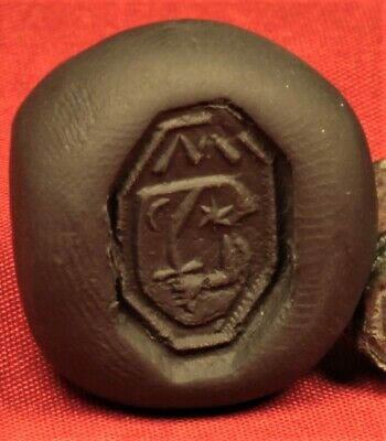 "Medieval Knight's Seal Ring 12. Century - ""M"" Stamp 3"