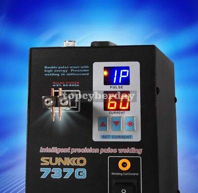 737G Spot Welder 110V 1.5KW Battery Spot Welding Machine LED Light for 18650 5