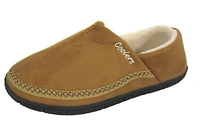 MENS COOLERS FULL FOOT SLIPPERS OUTDOOR SOLE SIZES 7 to 12 FREE POST  NEW 6