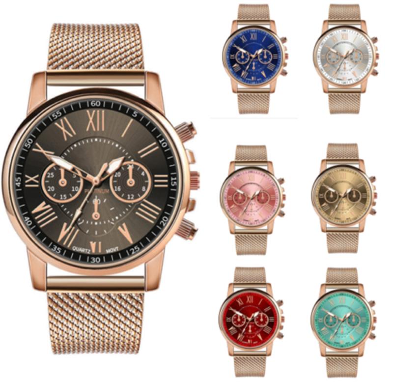 New Women Watch Stainless Steel Analog Quartz Dress Bracelet Wrist Watch JP 4