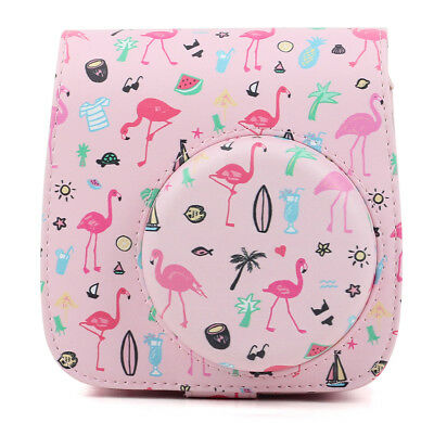 Fujifilm Instax Mini 8 9 Film Instant Camera Flamingo Bag PU Leather Cover Case 8