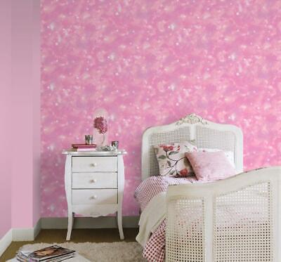 Rasch Nebula Pink Space Glitter Galaxy Stars Girls Wallpaper