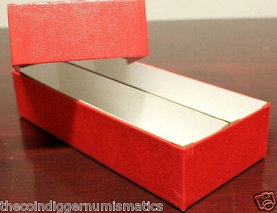 1 of 5FREE Shipping 2 Coin Storage Box Red 10x4x2 Holder DOUBLE ROW for 2x2 Flip u0026 Snap & 2 COIN STORAGE Box Red 10x4x2 Holder DOUBLE ROW for 2x2 Flip u0026 Snap ...