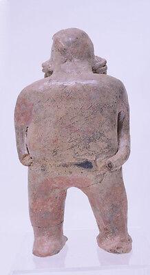 "Large Fine Pre-Columbian Pottery Figure  9 1/2"" x 5"" x 3"" 5"