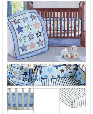 Infant Baby Nursery 7 8 Pcs Crib Bedding Set Comforter Bumper Sheet Dust ruffle