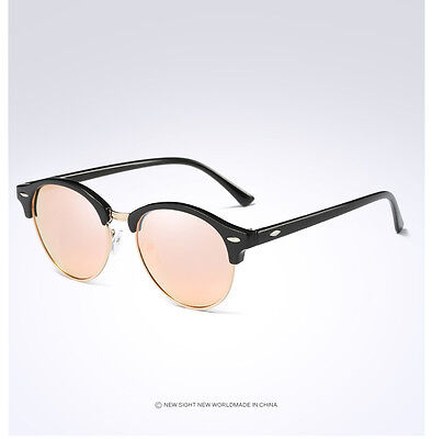 Fashion Vintage UV400 Outdoor Shades Women Mens Retro Round Polarized Sunglasses 8