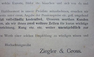 BRIEF WEINGROSSHANDLUNG 1889 ZIEGLER & GROSS KONSTANZ an HOTEL POST WALDKIRCH 3