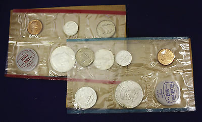 "1964 Official U.S. Mint Set. Complete and original. 10 coins Both ""P"" & ""D"" 2"