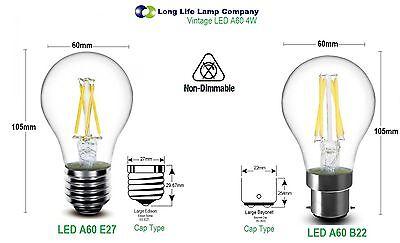 Antique Style Edison Vintage LED Light Bulbs Industrial Retro Lamps B22 or E27 5