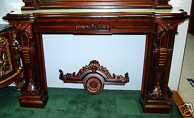 Renaissance Revival Mantel and Over Mirror #4878 5