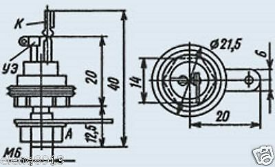14x KU202K KU202N KU202L KU202M Silicon Diffusion Thyristor Soviet Russian NEW