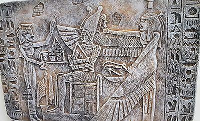 Egyptian Wall Decor God Osiris, Nephthys & priest Antique Reproduction