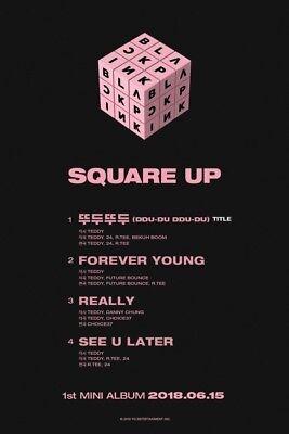 BLACKPINK-[Square Up]1st Mini Album Black CD+Book+Lyrics+Selfie+Card+Gift 8