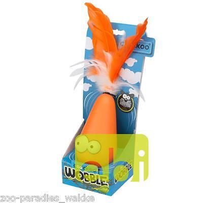 Coockoo Wobble orange, elektrisches Katzenspielzeug, Fangspiel Federn 409-436431 2
