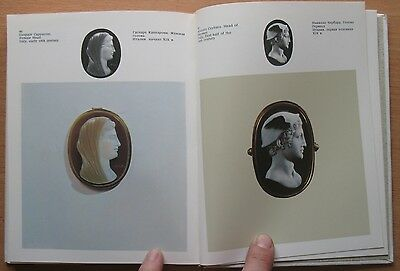 Russian Book Antique Cameo Art Old Miniature Portrait Stone Vintage European VTG 8