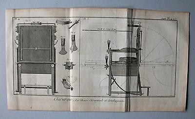 Surgery - Chirurgie Behandlungsstuhl - 2 Kupferstiche (Diderot) um 1770 Pl. 3-5 2