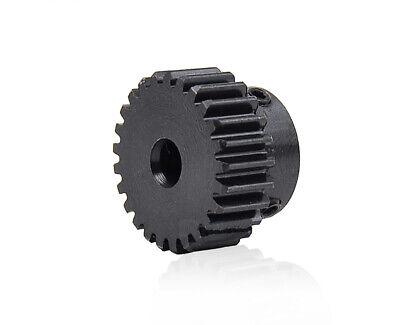 Zahnrad Stirnrad Stahl C45 Motorgetriebe 1 Modul 24 Zähne Bohrung 5-10mm 1M 24T