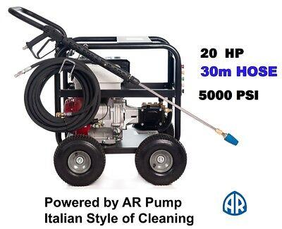 Black Jet 20 Hp 5000 Psi  High  Pressure Water Washer Cleaner Italian Pump