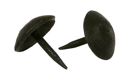 "LOT 40 HANDMADE 1"" BLACK ROUND HEAD NAILS WROUGHT IRON Furniture Door Decor Stud 3"