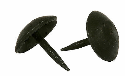 "LOT 60 HANDMADE 1"" BLACK ROUND HEAD NAILS WROUGHT IRON Furniture Door Decor Stud 3"