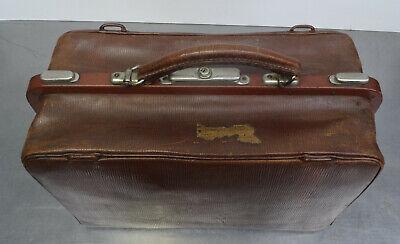Antike Hebamme Doktor Koffertasche Koffer Arzt Leder Tasche 2