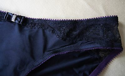 Hot Milk Black/Purple Satin/Lace Tamed By...Briefs 4