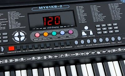 Musical Keyboard Electronic Digital Piano 61 Key Adults Beginner With Stand 2