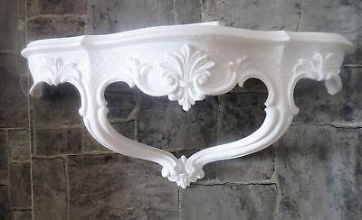 Wall Console/Spiegelkonsolen/Wall Shelf Baroque Antique White B: 45cm cp68 10