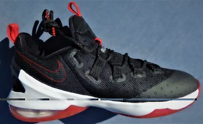 best loved c3619 b5720 NEW NIKE KIDS LEBRON XIII LOW (GS) 13 multiple SIZES BLACK RED WHITE  834347-061