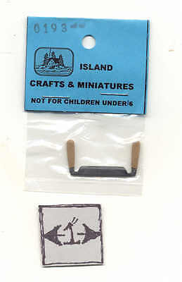 Bench Vise 1//12 scale dollhouse cast metal miniature ISL0134 1 Craft Island