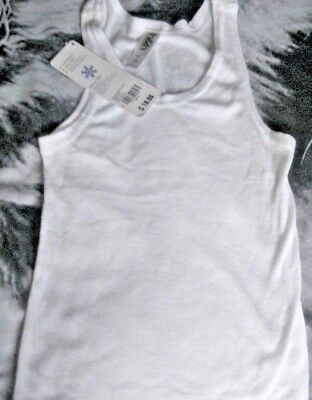 Brand New Boys Blue Or White Thermal Sleeveless Vest Tops Age 3-16 Years 3