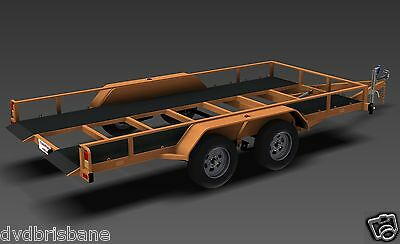 Trailer Plans - TILT FLATBED CAR TRAILER PLANS (14x6ft) - 2500kg - PLANS ON USB 6