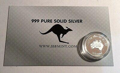 """2018 """"Animals Armistice"""" 1/10th OZ 999 Pure Silver Coin, C.O.A. Purple Poppy. 6"""