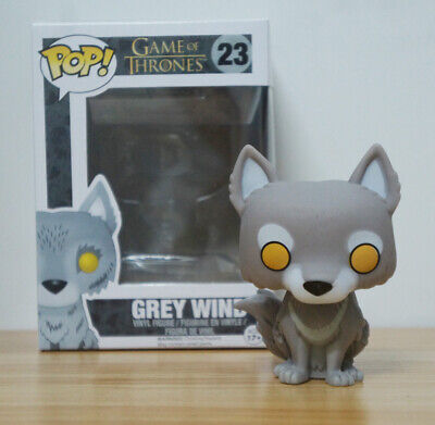 TV Game of Thrones Direwolf Toys Grey Wind/Nymeria/Ghost PVC Pop Figure Keychain 5