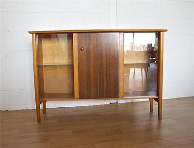 DEL£50 UK Mid Century Retro Danish Alfred Cox Style Walnut Bookcase Cabinet 2