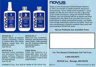 Novus 1,2,3 Plastic Polish System, 3x 2oz, Kunststoff Politur 5