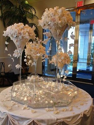 2 Of 4 Tall Martini Glass Vase Wedding Table Centerpiece, ...