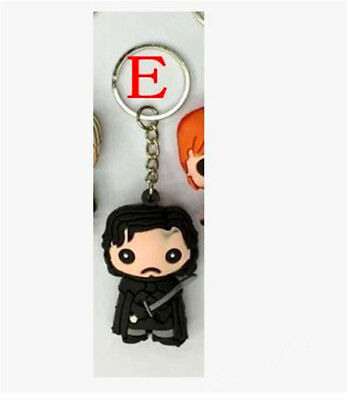 Game Of Thrones Pocket Daenerys Jon Snow Figure Keychain Hot 7